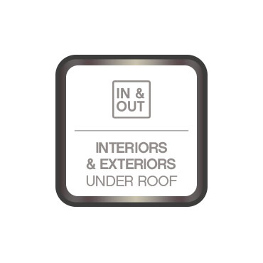 Interiors and exteriors under rood