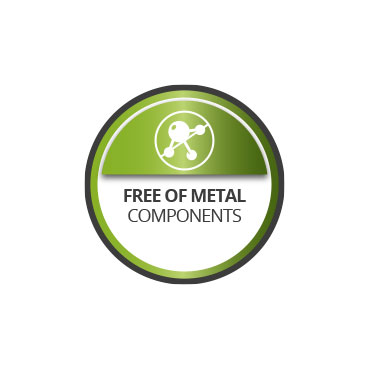 Free of metal components