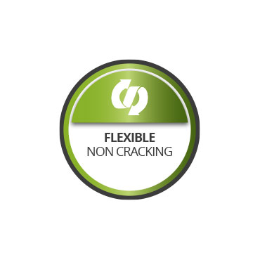 Flexible. Non cracking