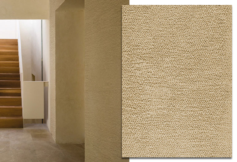 Natural ecological rendering mortar for textured finishes on walls