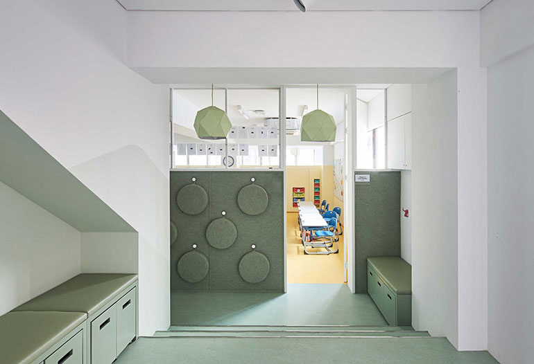 Graphenstone german school by Daniel Valle Architects. Ecological and healthy paints for children